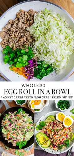This Keto Egg Roll in a Bowl is an easy low carb recipe with all the delicious flavors of your favorite Chinese restaurant takeout dish. Best of all, it's made in less than 30 minutes and is… Best Keto Breakfast, Breakfast Recipes, Breakfast Hash, Mcdonalds Breakfast, Breakfast Gravy, Breakfast Snacks, Breakfast Ideas, Lunch Recipes, Cooking Recipes