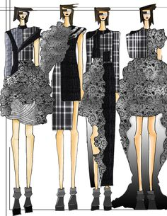 Collection for Comme des Garcons  by Sabrina Spanta, via Behance