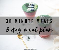 Free 5 day whole-food meal plan ready in under 30 minutes. Grocery list and recipe book included! Whole Foods Meal Plan, Whole Food Recipes, Day Plan, 30 Minute Meals, Grocery Lists, Meal Planning, Lunch, Posts, Snacks