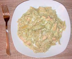 Rezept Tagliatelle (Bandnudeln, Nudeln) mit Lachs in Dill-Sahnesoße von ValerieK - Rezept der Kategorie Hauptgerichte mit Fisch & Meeresfrüchten