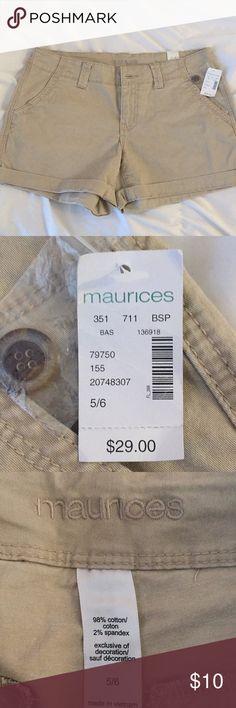 Brand new khaki shorts Brand new size 5/6 khaki shorts from Maurices Maurices Shorts