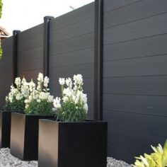 8 Smart Tips AND Tricks: Modern Fence Facade fence architecture dreams.Modern Fence Diy black fence home depot. Backyard Fences, Garden Fencing, Backyard Landscaping, Backyard Privacy, Privacy Fence Landscaping, Outdoor Fencing, Dog Backyard, Privacy Hedge, Privacy Fence Designs