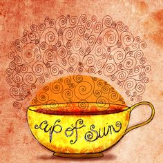 A cup of sunshine is always a good thing! I Love Coffee, Coffee Art, Thought Pictures, Good Morning Good Night, Coffee Quotes, Me Time, Happy Friday, Hot Chocolate, Sunshine