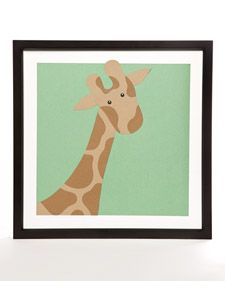 San Francisco artist Nicky Batill joins Martha to create charming paper animal portraits perfect for any child's room.