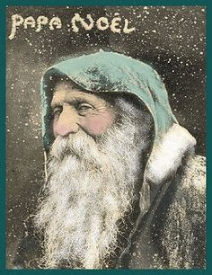 "Vintage Christmas Postcard Photo of ""Papa Noel"" (Father Christmas) -- circa late"