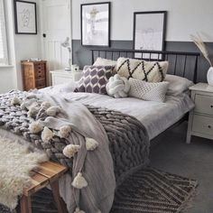 Penn bed from Made Tranquil Bedroom, Rustic Master Bedroom, Cozy Master Bedroom Ideas, Attic Bedroom Ideas Angled Ceilings, Exposed Brick Bedroom, Bedroom Inspiration Cozy, Cute Bedroom Ideas, Bedroom Inspo, Bedroom Decor For Women