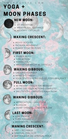 How to flow with the energy Moon phases moon phase meaning moon rituals spiritual yoga yoga for beginners yoga practice yoga at home full moon rituals moon cycles astrolo. Yin Yoga, Yoga Meditation, Full Moon Meditation, Meditation Space, New Moon Rituals, Full Moon Ritual, Yoga Flow, Yoga Inspiration, Fitness Inspiration
