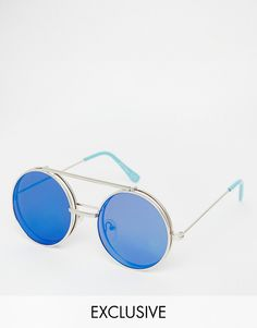 Jeepers+Peepers+Round+Mirror+Flip+Up+Lens+Sunglasses