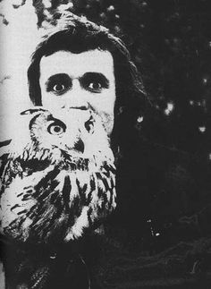 Alighiero Boetti with owl