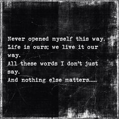 Nothing Else Matters | Metallica