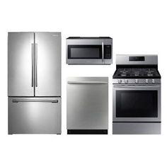 Good Samsung 4 Piece Kitchen Appliance Package   Stainless Steel
