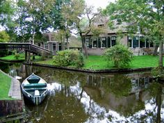 Giethoorn, Holland: A Town With No Roads    Founded in the 13th Century CE, Giethoorn is referred to as the Venice of the North, due to the fact that the town has no roads for cars, and uses canals (whose lengths total to almost five miles) with small boats to get around. There are over 50 wooden bridges over the canals, and many of the farmhouse-style homes are centuries old.