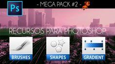 Recursos para photoshop: Brushes Shapes Gradients by @photoshopstiben