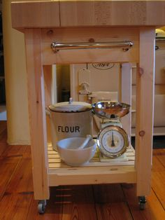 For high-quality custom-made kitchen trolley units, contact the experts at Exmoor Furniture to discuss your specific requirements. Bespoke Furniture, Unique Furniture, Online Furniture, Kitchen Furniture, Butchers Block Trolley, Kitchen Trolley, Kitchen Aid Mixer, Kitchen Appliances, Butcher Block Top