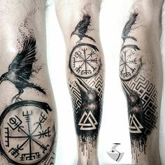 5 Ideas of Odin's Tattoos for Odin Worshippers Odin was among the most powerful and influential gods to the Vikings. There were many reasons why the Vikings worshipped Odin. In this day and age, Odin God Tattoos, Forearm Tattoos, Body Art Tattoos, Tattoos For Guys, Tattoos For Women, Warrior Tattoos, Viking Tattoos For Men, Tatoos, Tattoo Ink