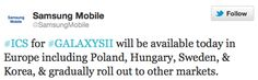 Samsung heralds European arrival of Ice Cream Sandwich for Galaxy S II