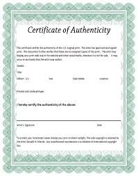 Certificate of authenticity of a fine art print certificates of hasil gambar yelopaper Images