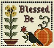 Plum Pudding NeedleArt; Blessed Be free counted cross stitch chart