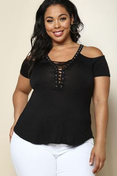 Cold Shoulder Diva Plus Size Top