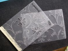Using broken embossing folders. This blog has many great tutorials on how to make the most of your embossing folders and dies.