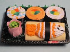 Baby Shower gift idea... wrap up colored washcloths like sushi