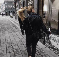 fringe + leather #rebeccaminkoff
