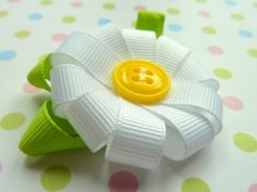 BLOOM  CUSTOM COLORS  One Flower Hair Bow Clips by lilprincessbow, $4.50