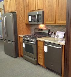 slate appliances - All in a row, like my kitchen