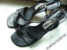Skóra sandały koturny buty czarne 39 OKAZJA TANIO