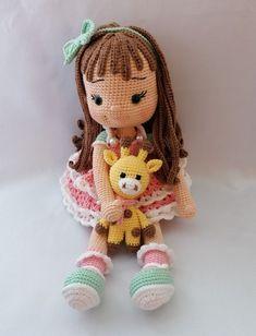 Darla amigurumi papusa crosetata | Breslo Amigurumi Doll, New Girl, Crochet Hats, Teddy Bear, Dolls, Model, Singer, Animals, Instagram