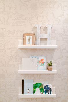 Modern Safari Nursery With Wallpaper Theme Animal Neutral Natural