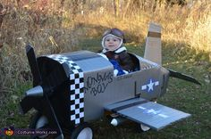Andrea: For my son Lucas' first Halloween we dressed him up as a World War II fighter pilot complete with an airplane my husband made out of cardboard and a lot...