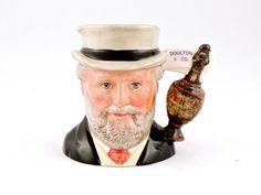 """""""RARE"""" Royal Doulton Small Toby Character Mug~D7057 """"SIR HENRY DOULTON""""  #RoyalDoulton"""