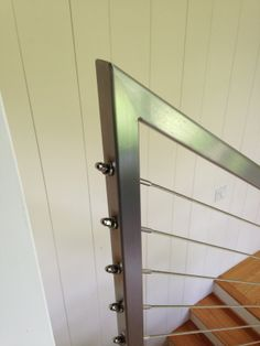 Stainless steel handrail with cable system