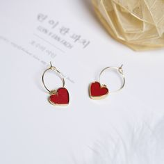 Cheap pendientes mujer moda, Buy Quality pendientes mujer directly from China drop earrings Suppliers: 2017 Korean Sweety Lovely Style Drop Earrings Simulated Leather Colourful Heart pendientes mujer New Korean Style Circle Earrings For Women Vin Cute Jewelry, Jewelry Gifts, Jewelery, Vintage Jewelry, Jewelry Accessories, Jewelry Design, Women Jewelry, Silver Jewelry, Hipster Accessories