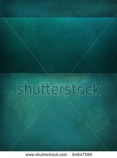 stock photo : painted illustration of teal blue background with large blank matching stripe  has copy space for your own text, title, or image, has vintage grunge texture and soft light