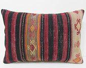 kilim pillow beige 16x24 black decorative pillow red throw pillow turkish rug outdoor cushion art pillow case large throw pillow case 23224