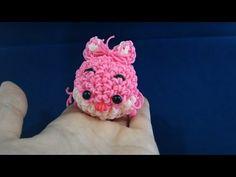 (修正版)かぎ編みで編む(Hook only)ツムツム(TSUM TSUM)チェシェ猫(Cheshire Cat)レインボールーム(Rainbowloom) - YouTube