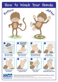 """How to wash your hands"". FREE poster for your school washroom."