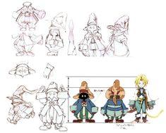 Final Fantasy IX Concept Art - Vivi Ornitier