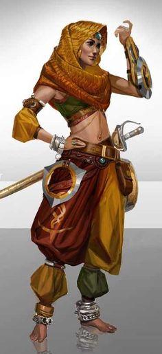 f Bard Sword Throwing Stars Cloak Circlet Bracelets midilvl lg Female Character Concept, Fantasy Character Design, Character Creation, Character Design Inspiration, Character Art, Fantasy Warrior, Fantasy Rpg, Medieval Fantasy, High Fantasy
