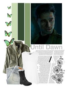 """""""Until Dawn;Mike (character inspiration)"""" by kwiatekmarek ❤ liked on Polyvore featuring Bodas, American Eagle Outfitters, Topshop, Denham, Keen Footwear, Inspired, inspiration, videogame and untildawn"""