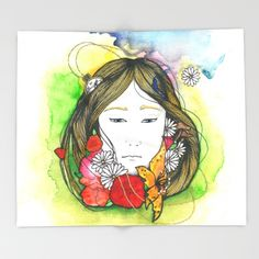 Alice Throw Blanket by Melanie Arias - $49.00