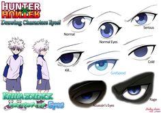 Hunter x Hunter - les yeux de Killua par Andy-chanWantToDraw
