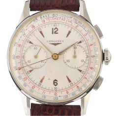 caliber 30CH Fly-back ref. 5982 38mm. case.  If you think Patek made the best chronographs in the 1940s and 50s you're half right. Patek absolutely made some of the best and still most desirable chronos in the middle part of last century, but there was another manufacturer making truly top-notch stopwatch mechanisms for the wrist, and that was Longines. Yes, Longines.  The 13ZN chronograph gave way to the 30CH chronograph with a similar design but slightly upgraded, though somewhat less…