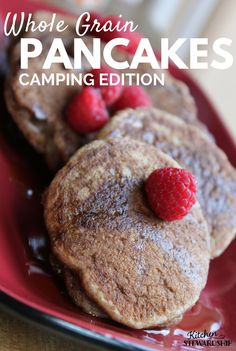 Need help getting the kids going in the morning? These fluffy 100% whole grain pancakes will have everyone racing to the breakfast table. This camping edition is no exception.