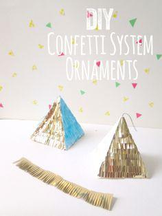 DIY tutorial Confetti ornaments!