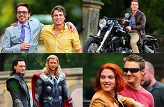 All of my Avengers ships in one place ❤️❤️❤️❤️  Tony Stark x Bruce Banner  Clint Barton x Natasha Romanoff Thor Odinson x Loki... That ones weird, but they have the cutest brother relationship  Maybe Steve x Thor and they could explore the world together and figure out what Facebook and texting is! CUTE!