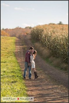 Rustic Engagement Photo Inspiration in the Countryside ... I am SO doing this!