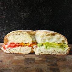 Heirloom Tomato Sandwich with Smoked Corn Mayonnaise from SoupAddict.com - the best tomato sandwich ever, with a beautiful rainbow of heirloom tomatoes and a mind-blowingly delicious smoked corn mayonnaise.